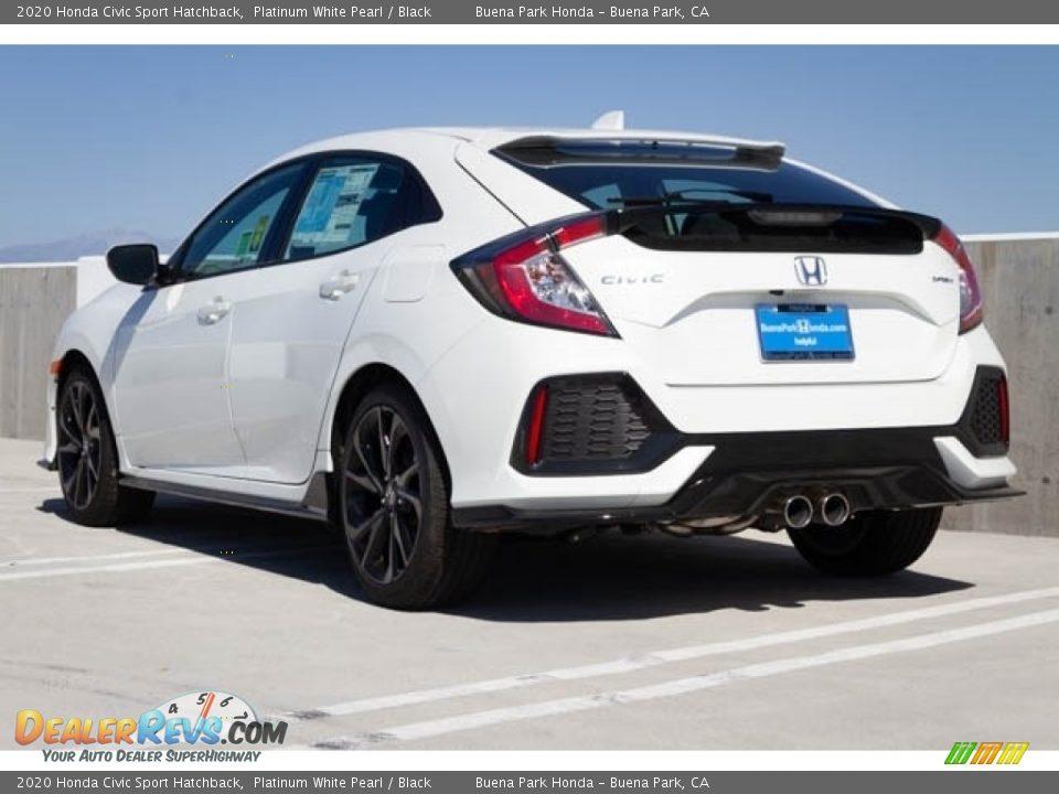2020 Honda Civic Sport Hatchback Platinum White Pearl / Black Photo #2