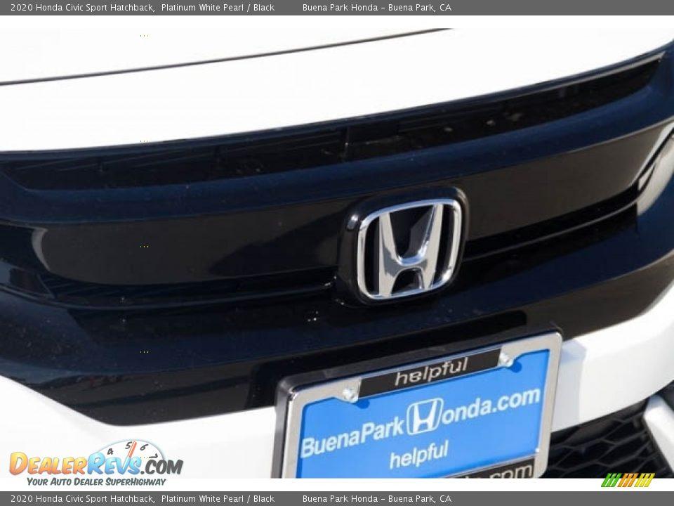 2020 Honda Civic Sport Hatchback Platinum White Pearl / Black Photo #4