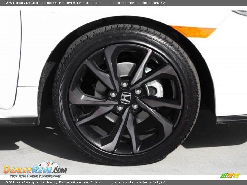 2020 Honda Civic Sport Hatchback Platinum White Pearl / Black Photo #12