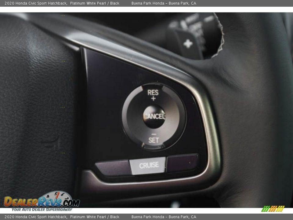 2020 Honda Civic Sport Hatchback Platinum White Pearl / Black Photo #20