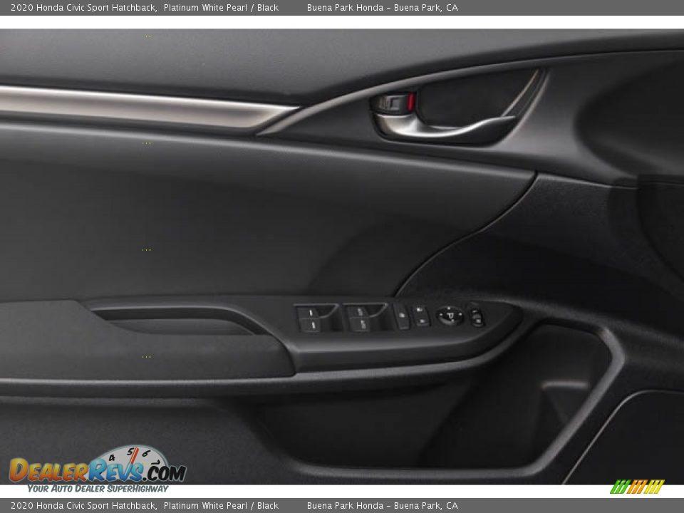 2020 Honda Civic Sport Hatchback Platinum White Pearl / Black Photo #33