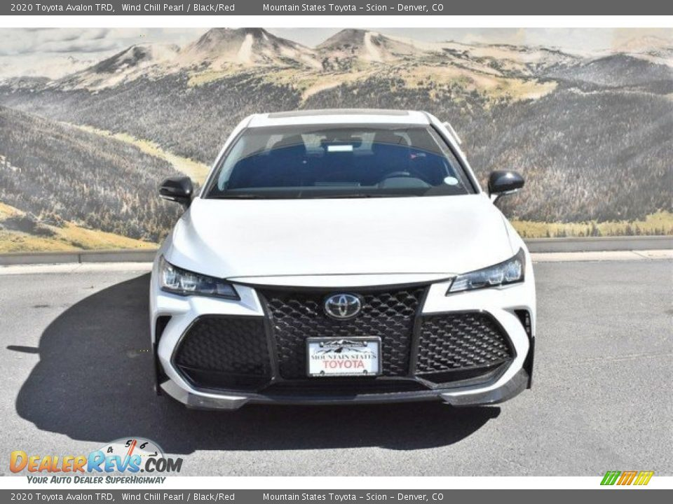2020 Toyota Avalon TRD Wind Chill Pearl / Black/Red Photo #2