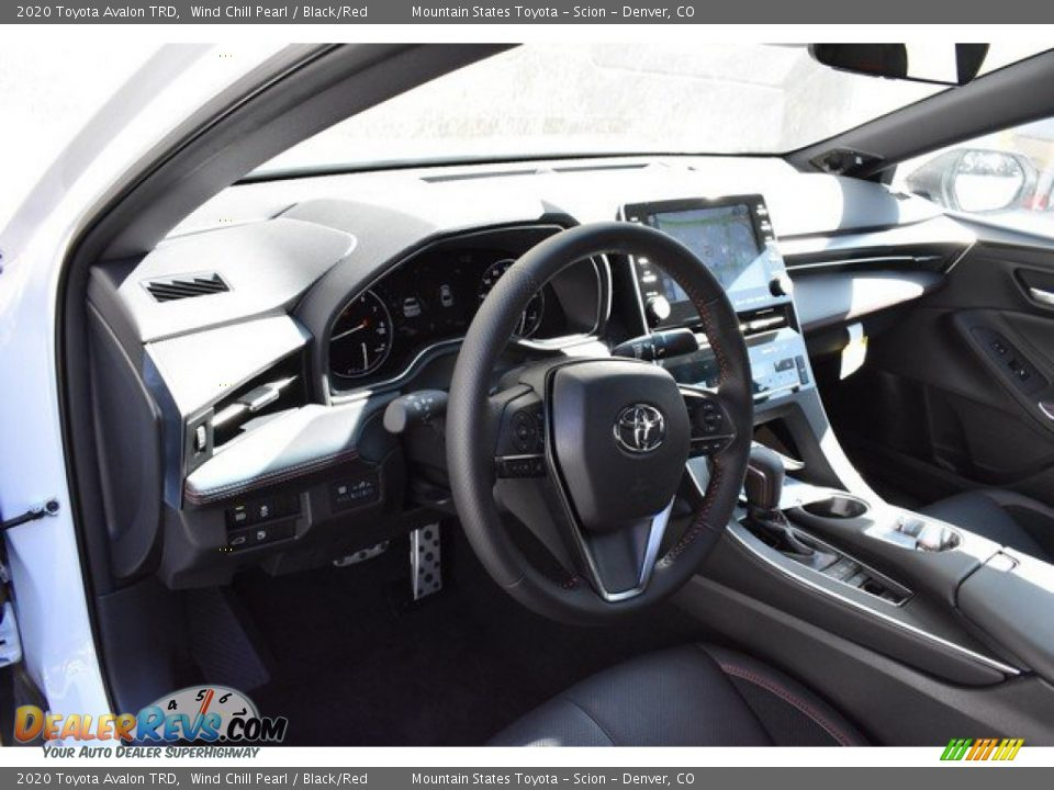 2020 Toyota Avalon TRD Wind Chill Pearl / Black/Red Photo #5