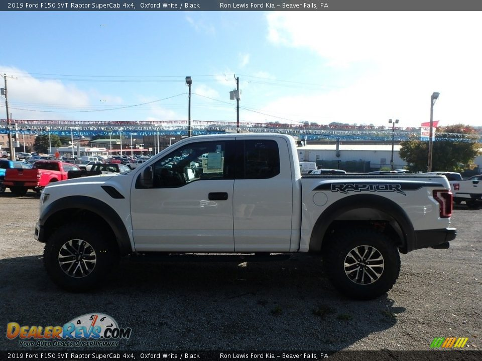 2019 Ford F150 SVT Raptor SuperCab 4x4 Oxford White / Black Photo #5