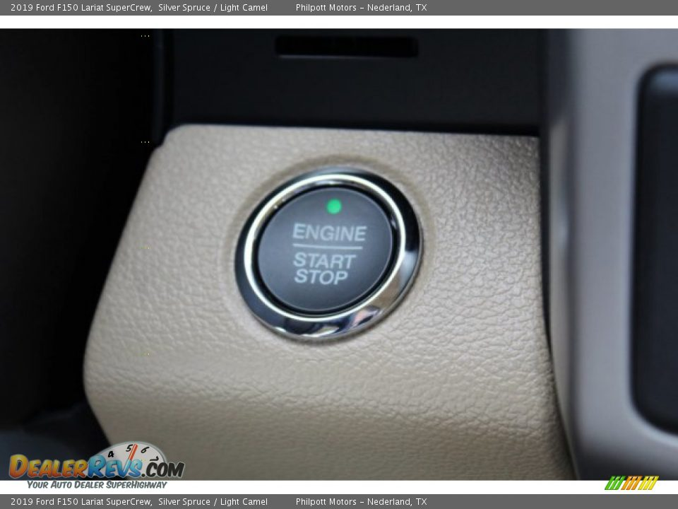 2019 Ford F150 Lariat SuperCrew Silver Spruce / Light Camel Photo #18