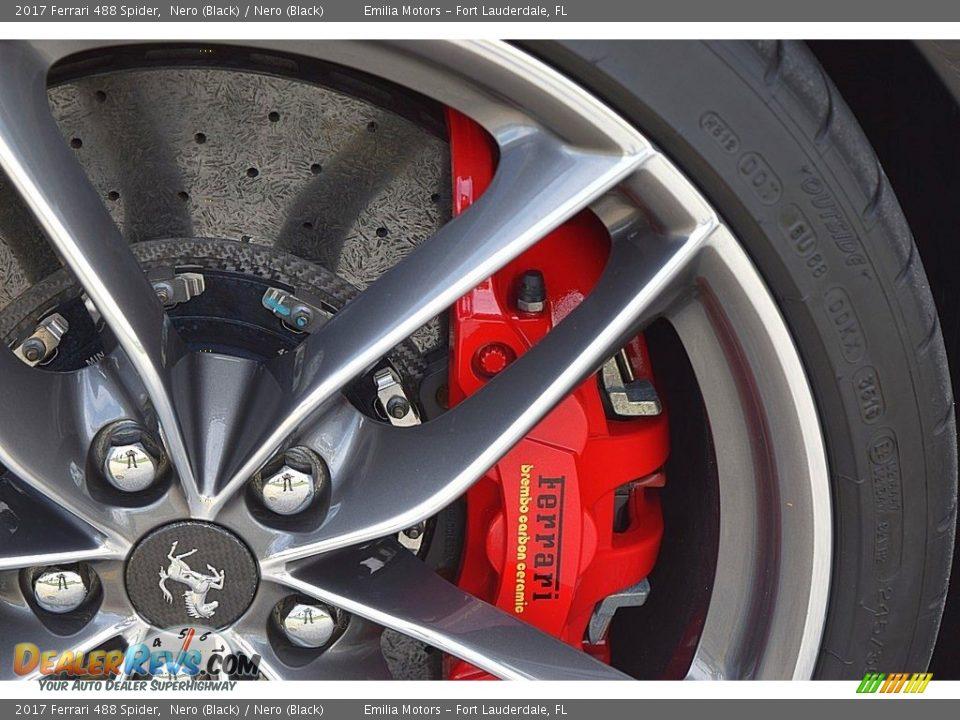 2017 Ferrari 488 Spider Nero (Black) / Nero (Black) Photo #32