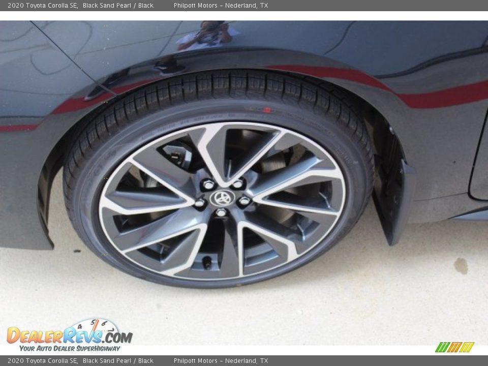 2020 Toyota Corolla SE Black Sand Pearl / Black Photo #5