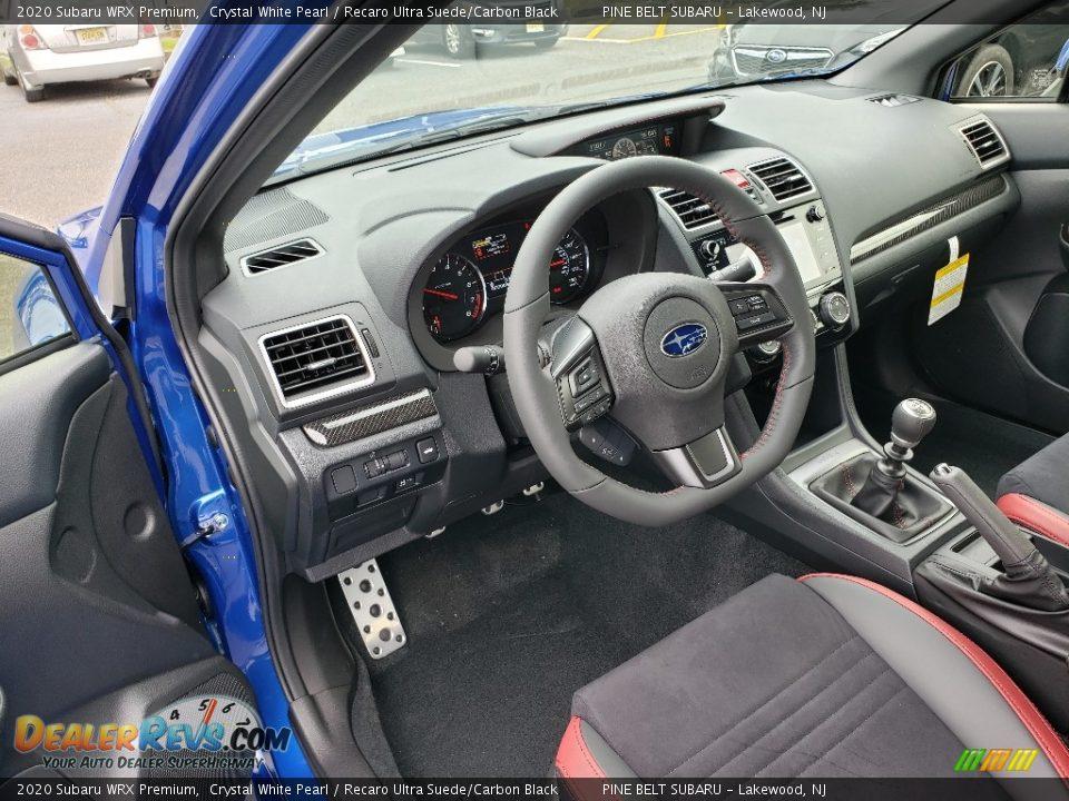 Recaro Ultra Suede/Carbon Black Interior - 2020 Subaru WRX Premium Photo #7