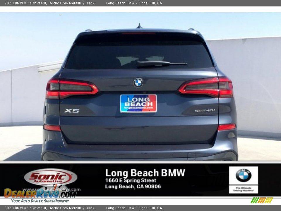 2020 BMW X5 sDrive40i Arctic Grey Metallic / Black Photo #3
