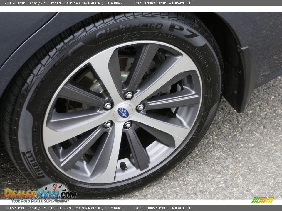 2016 Subaru Legacy 2.5i Limited Carbide Gray Metallic / Slate Black Photo #26