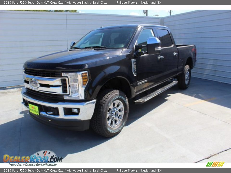 2019 Ford F250 Super Duty XLT Crew Cab 4x4 Agate Black / Earth Gray Photo #4