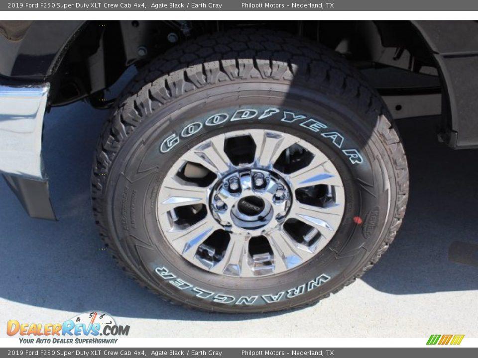2019 Ford F250 Super Duty XLT Crew Cab 4x4 Agate Black / Earth Gray Photo #5