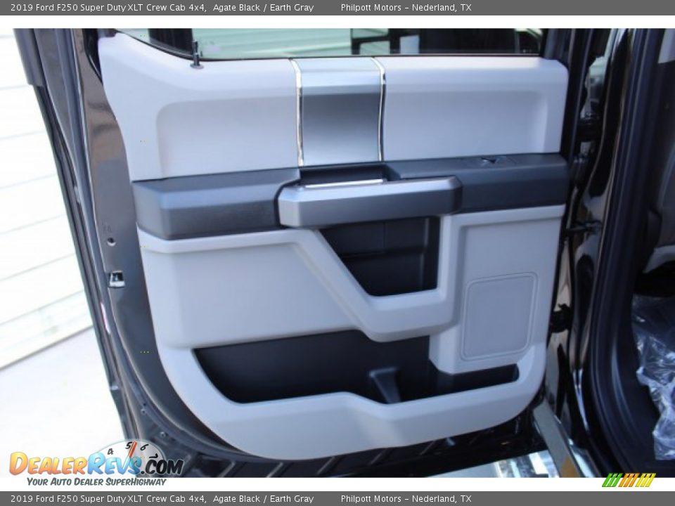 2019 Ford F250 Super Duty XLT Crew Cab 4x4 Agate Black / Earth Gray Photo #12