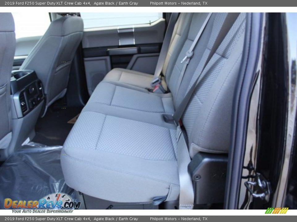 2019 Ford F250 Super Duty XLT Crew Cab 4x4 Agate Black / Earth Gray Photo #13
