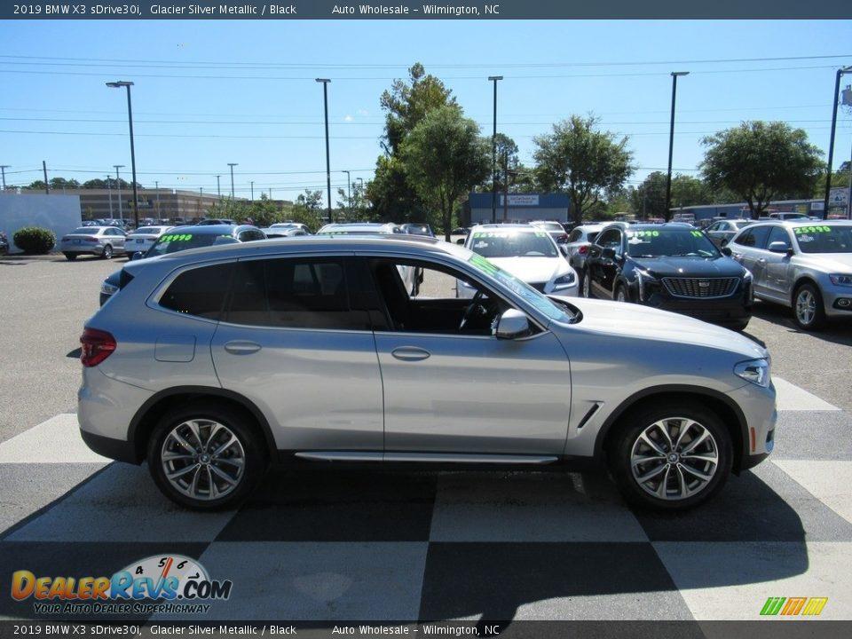 2019 BMW X3 sDrive30i Glacier Silver Metallic / Black Photo #3