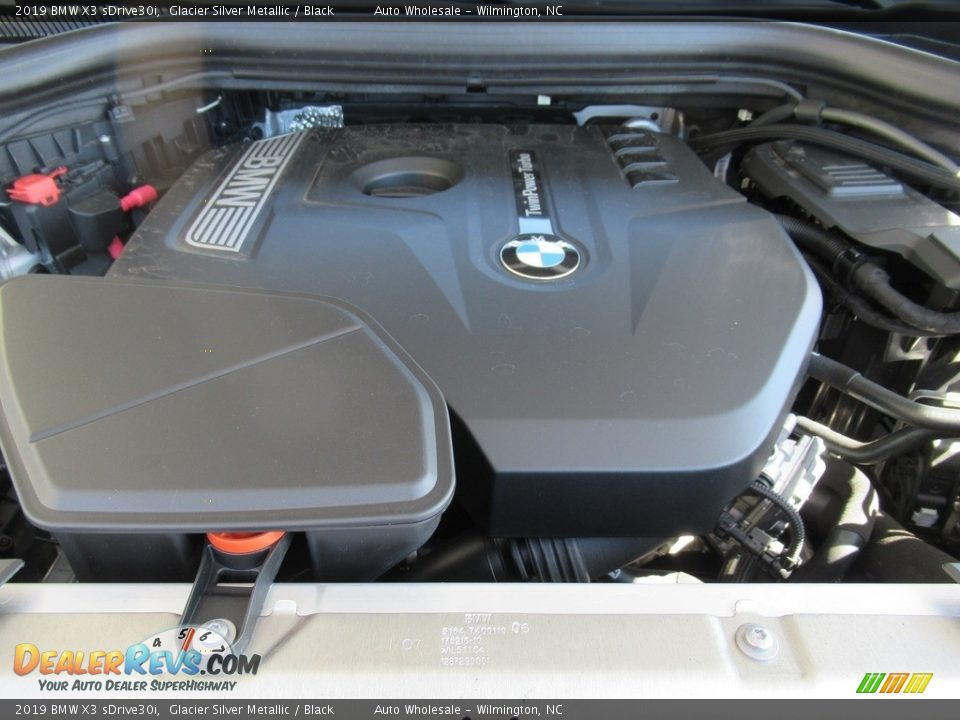 2019 BMW X3 sDrive30i Glacier Silver Metallic / Black Photo #6