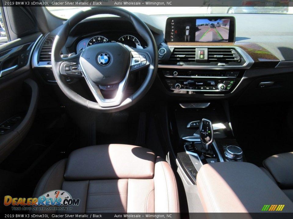 2019 BMW X3 sDrive30i Glacier Silver Metallic / Black Photo #14