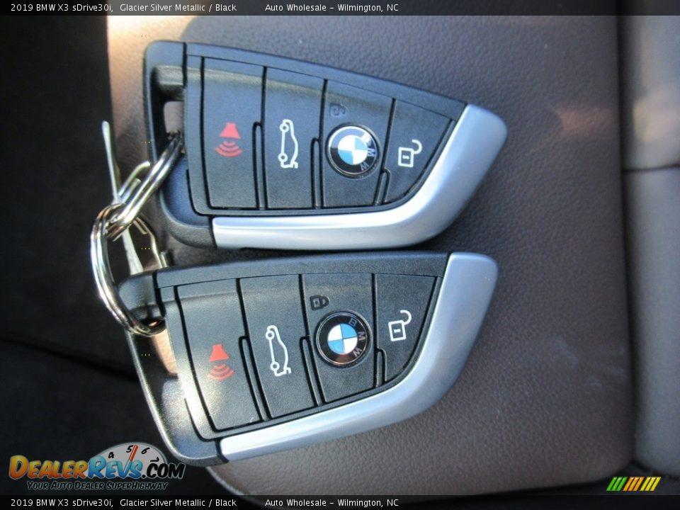 2019 BMW X3 sDrive30i Glacier Silver Metallic / Black Photo #20