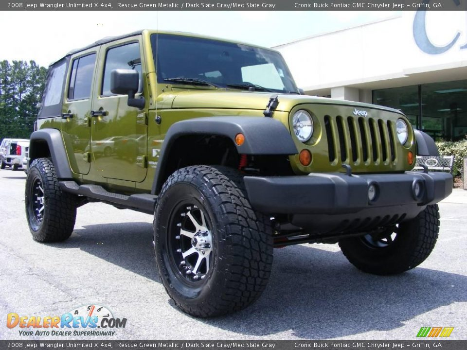 2008 Jeep Wrangler Unlimited X 4x4 Rescue Green Metallic