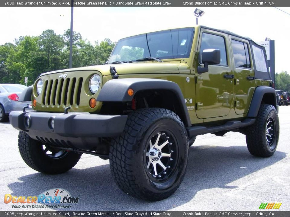 Rescue Green Jeep >> 2008 Jeep Wrangler Unlimited X 4x4 Rescue Green Metallic / Dark Slate Gray/Med Slate Gray Photo ...