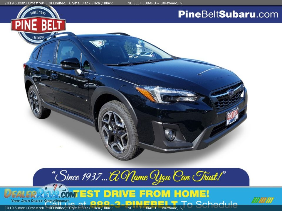 2019 Subaru Crosstrek 2.0i Limited Crystal Black Silica / Black Photo #1