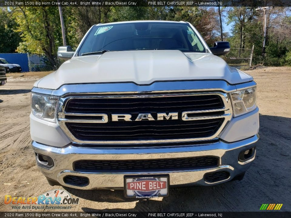 2020 Ram 1500 Big Horn Crew Cab 4x4 Bright White / Black/Diesel Gray Photo #2