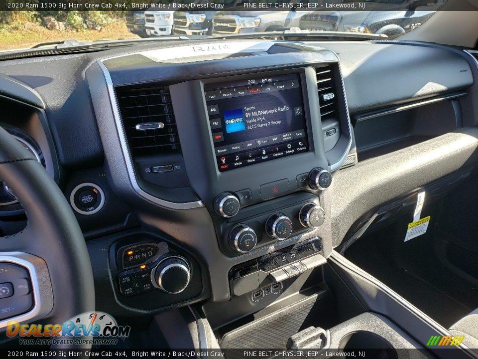 2020 Ram 1500 Big Horn Crew Cab 4x4 Bright White / Black/Diesel Gray Photo #10