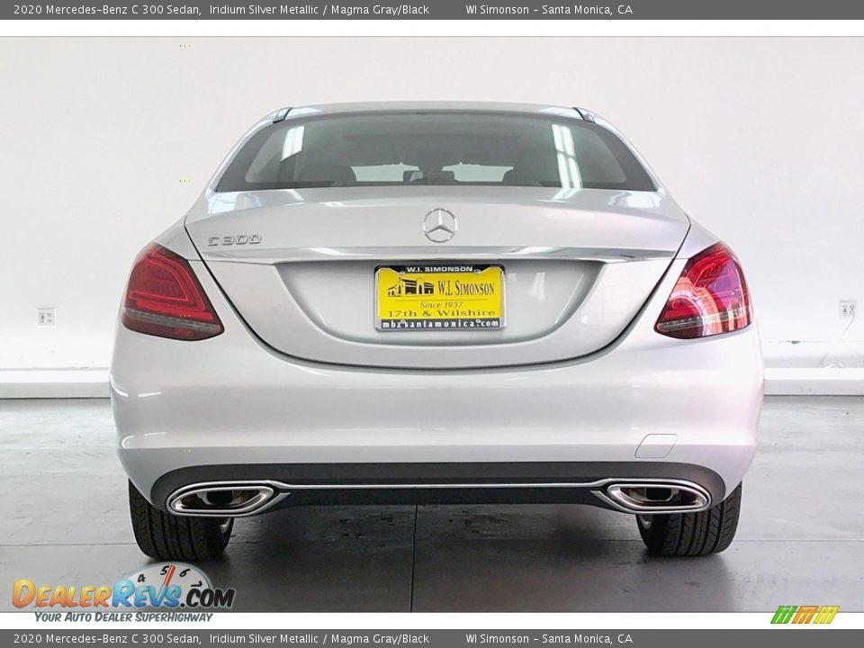 2020 Mercedes-Benz C 300 Sedan Iridium Silver Metallic / Magma Gray/Black Photo #3