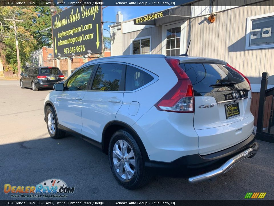 2014 Honda CR-V EX-L AWD White Diamond Pearl / Beige Photo #6