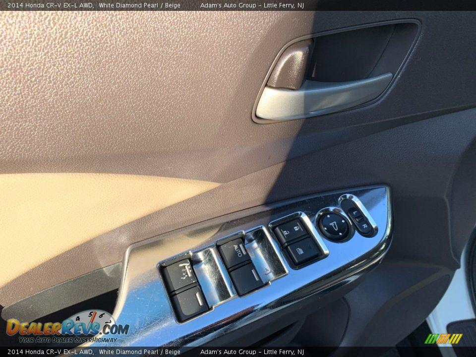 2014 Honda CR-V EX-L AWD White Diamond Pearl / Beige Photo #18