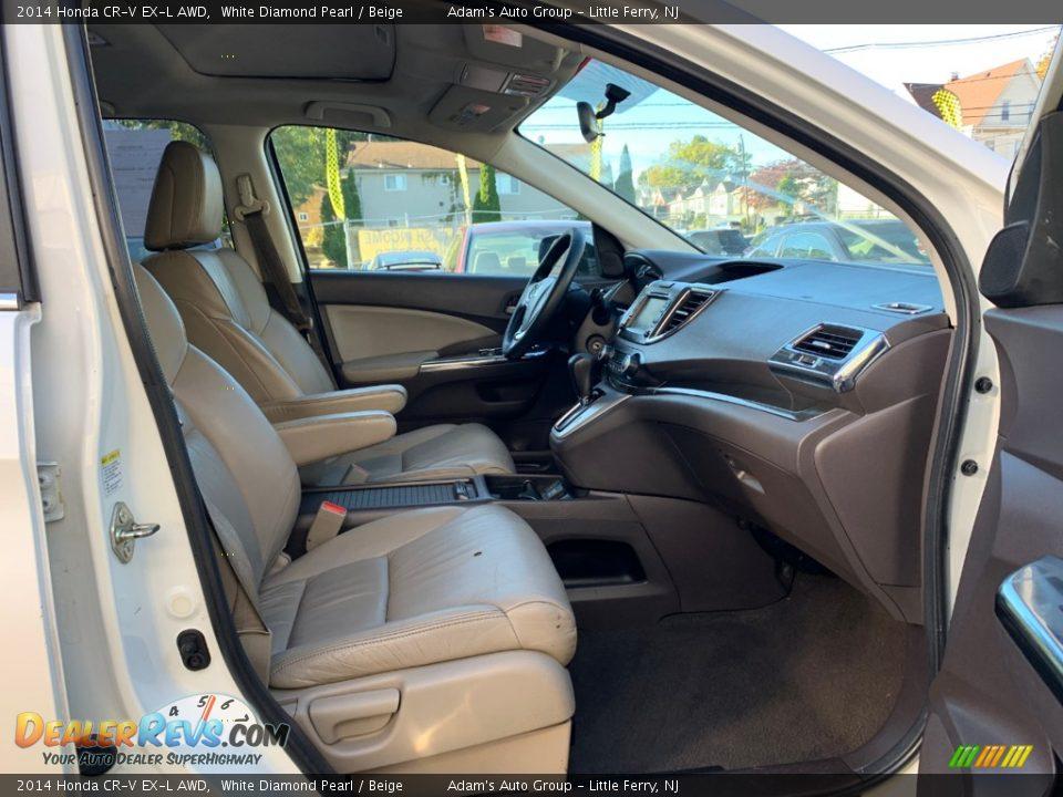 2014 Honda CR-V EX-L AWD White Diamond Pearl / Beige Photo #26