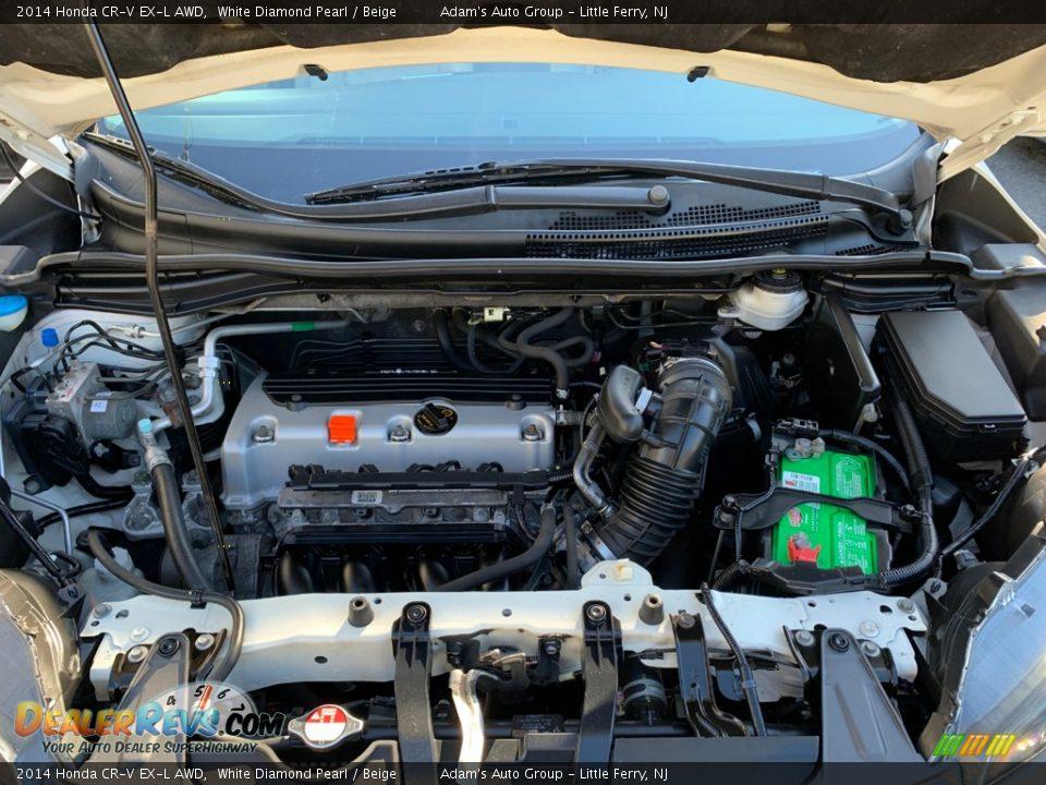2014 Honda CR-V EX-L AWD White Diamond Pearl / Beige Photo #28