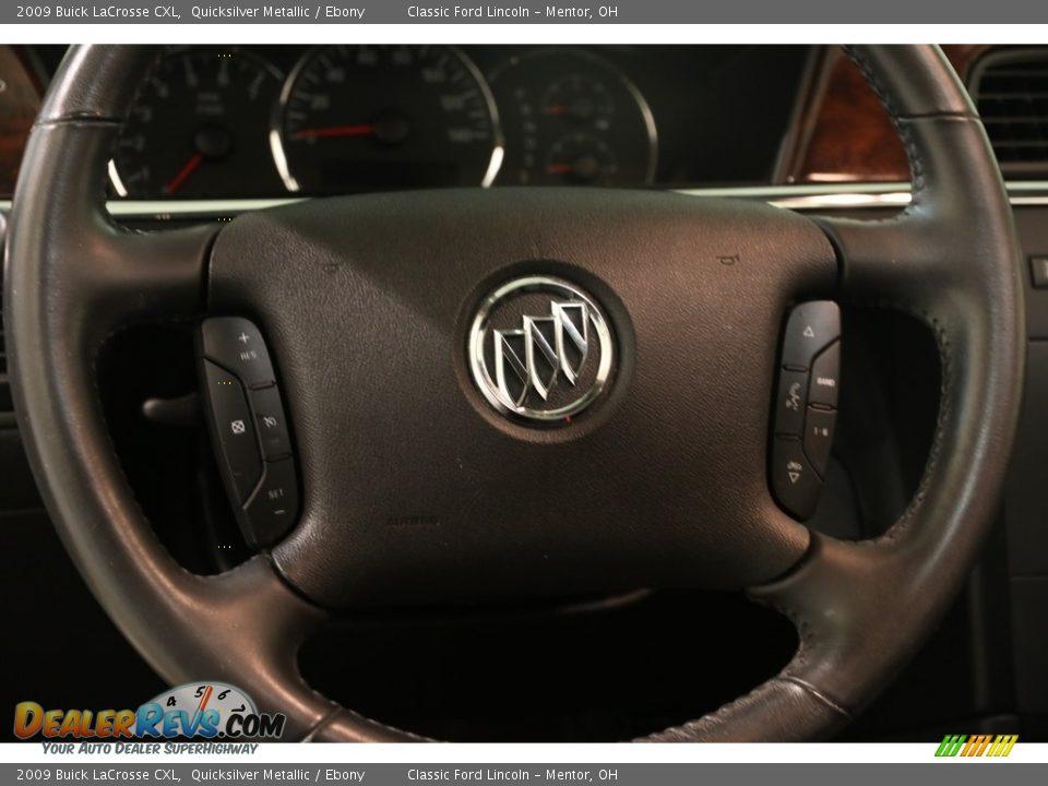 2009 Buick LaCrosse CXL Quicksilver Metallic / Ebony Photo #6