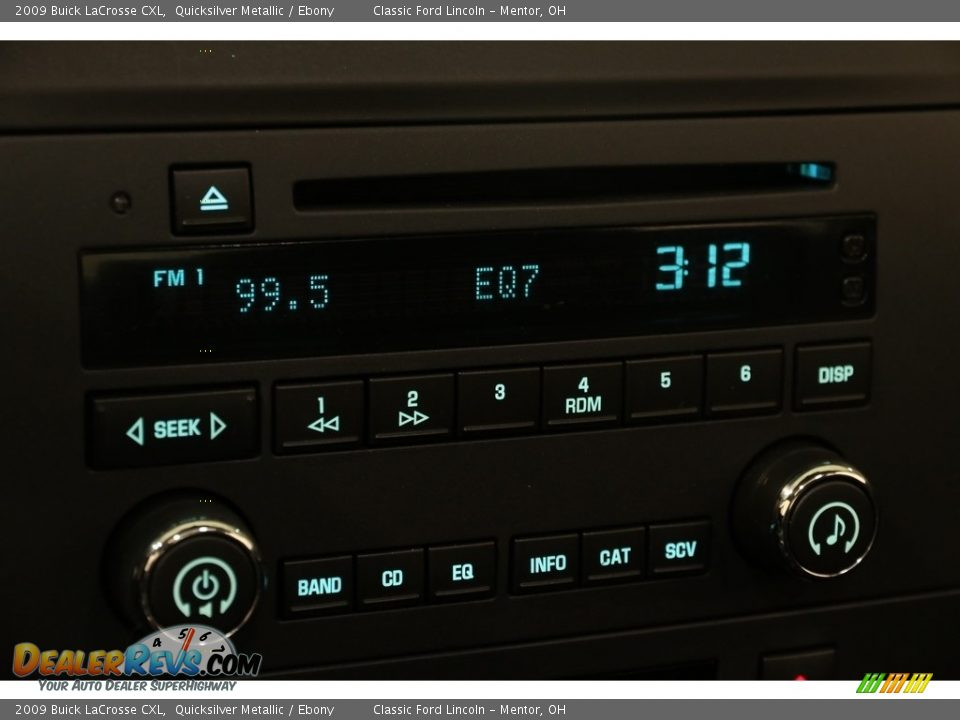 2009 Buick LaCrosse CXL Quicksilver Metallic / Ebony Photo #9