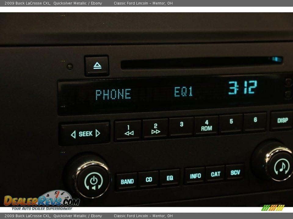 2009 Buick LaCrosse CXL Quicksilver Metallic / Ebony Photo #10