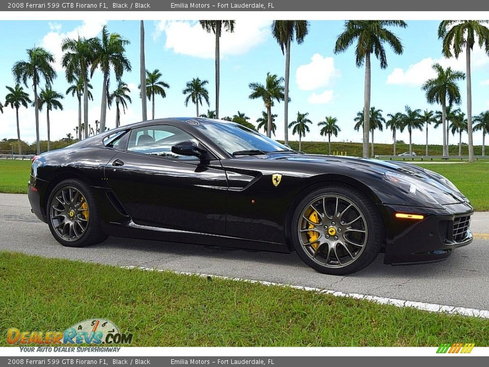 Front 3/4 View of 2008 Ferrari 599 GTB Fiorano F1 Photo #2