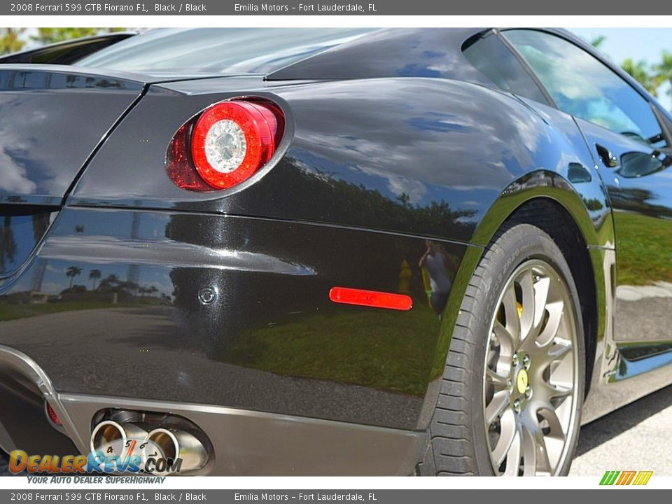 2008 Ferrari 599 GTB Fiorano F1 Black / Black Photo #6