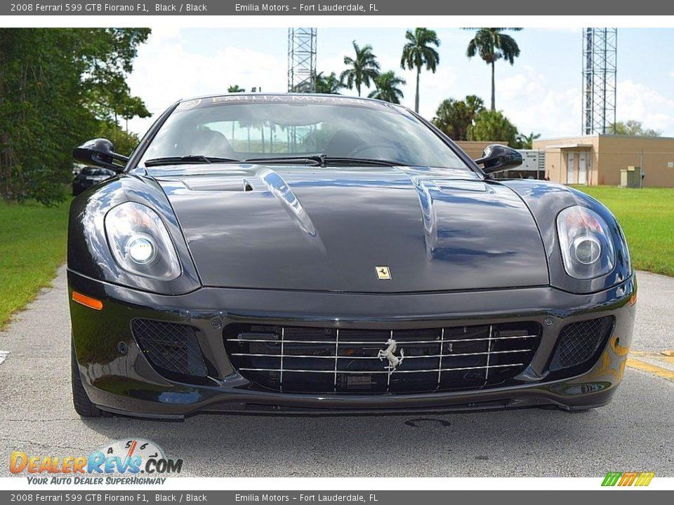 2008 Ferrari 599 GTB Fiorano F1 Black / Black Photo #14
