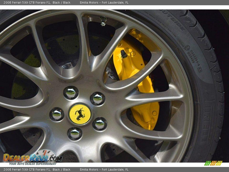 2008 Ferrari 599 GTB Fiorano F1 Black / Black Photo #22