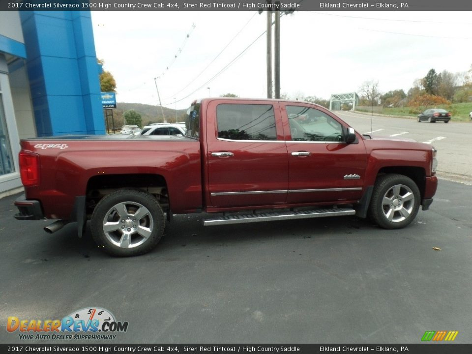 2017 Chevrolet Silverado 1500 High Country Crew Cab 4x4 Siren Red Tintcoat / High Country Saddle Photo #9