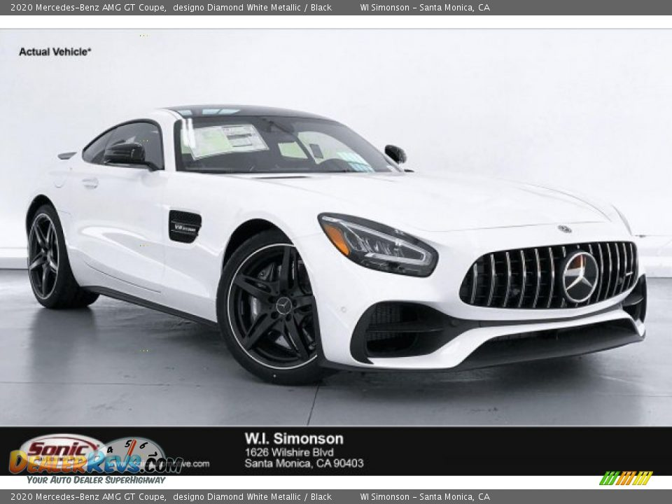 2020 Mercedes-Benz AMG GT Coupe designo Diamond White Metallic / Black Photo #1