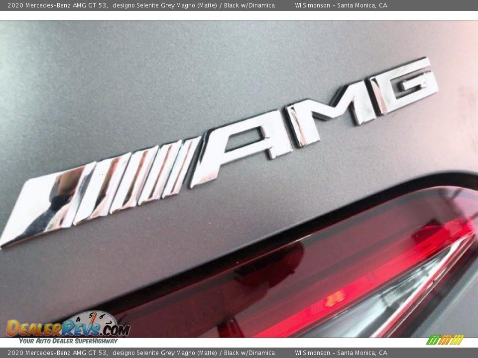 2020 Mercedes-Benz AMG GT 53 designo Selenite Grey Magno (Matte) / Black w/Dinamica Photo #27