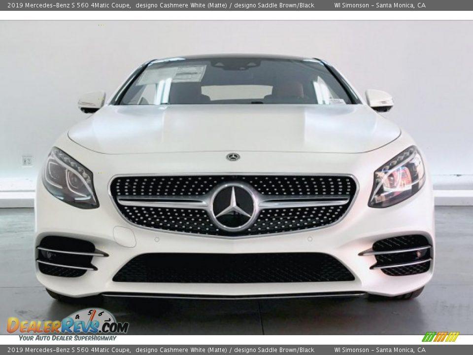 2019 Mercedes-Benz S 560 4Matic Coupe designo Cashmere White (Matte) / designo Saddle Brown/Black Photo #2