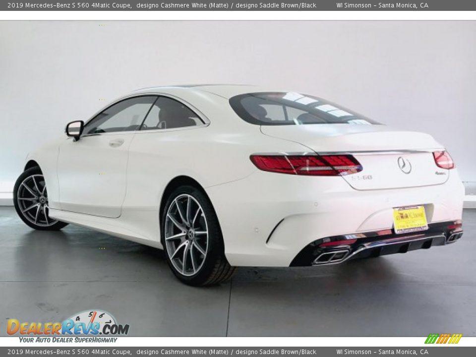 2019 Mercedes-Benz S 560 4Matic Coupe designo Cashmere White (Matte) / designo Saddle Brown/Black Photo #10