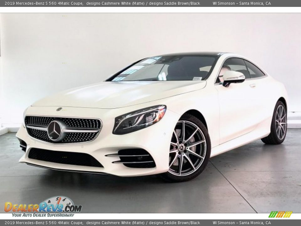 Front 3/4 View of 2019 Mercedes-Benz S 560 4Matic Coupe Photo #12