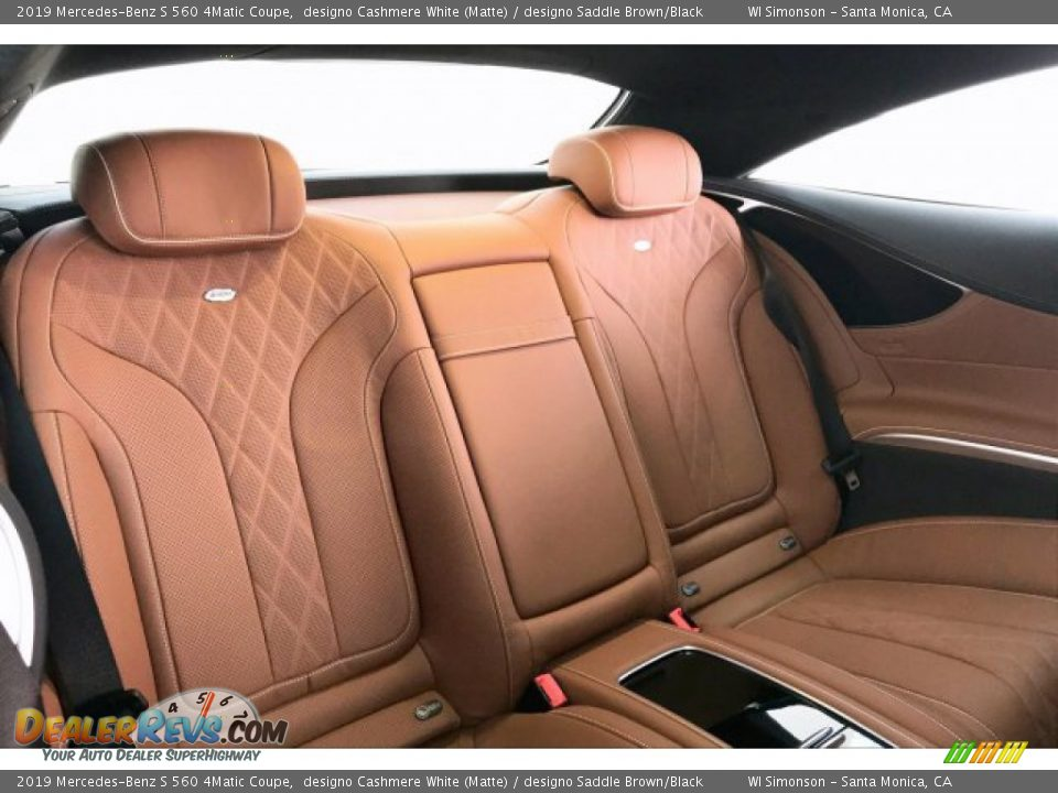 Rear Seat of 2019 Mercedes-Benz S 560 4Matic Coupe Photo #13
