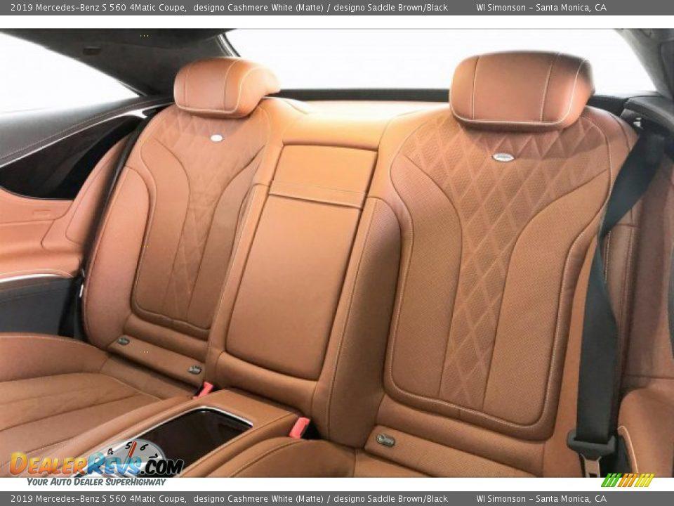 2019 Mercedes-Benz S 560 4Matic Coupe designo Cashmere White (Matte) / designo Saddle Brown/Black Photo #15