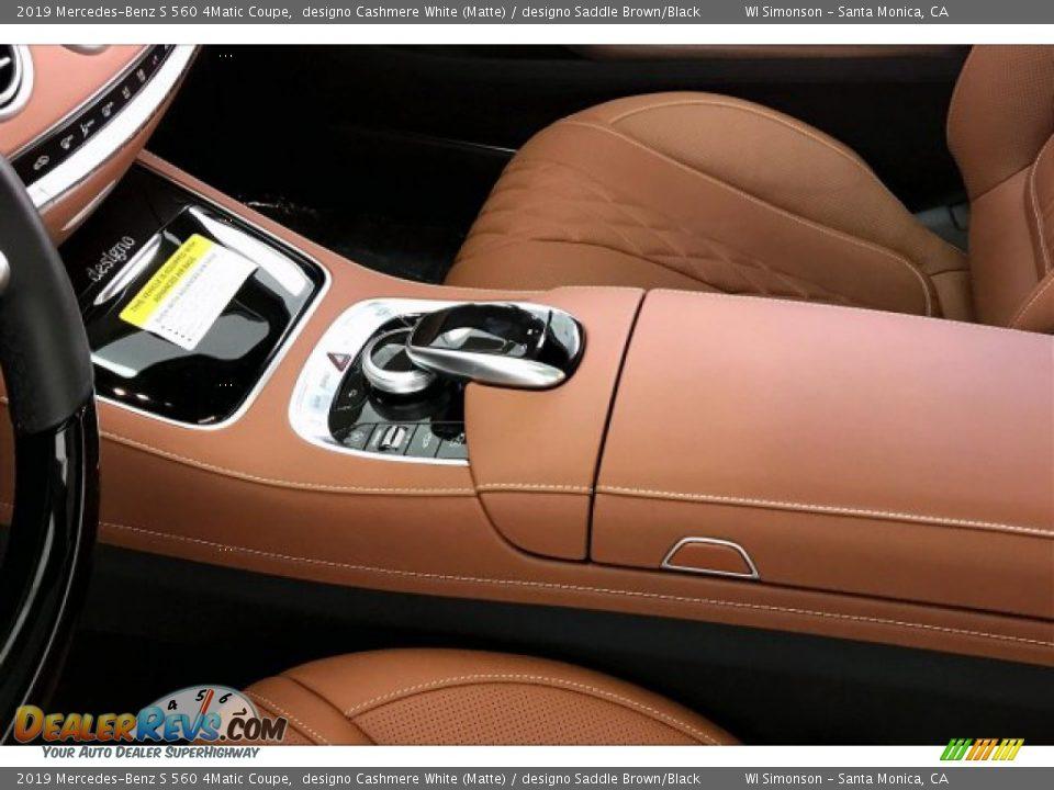 2019 Mercedes-Benz S 560 4Matic Coupe designo Cashmere White (Matte) / designo Saddle Brown/Black Photo #23