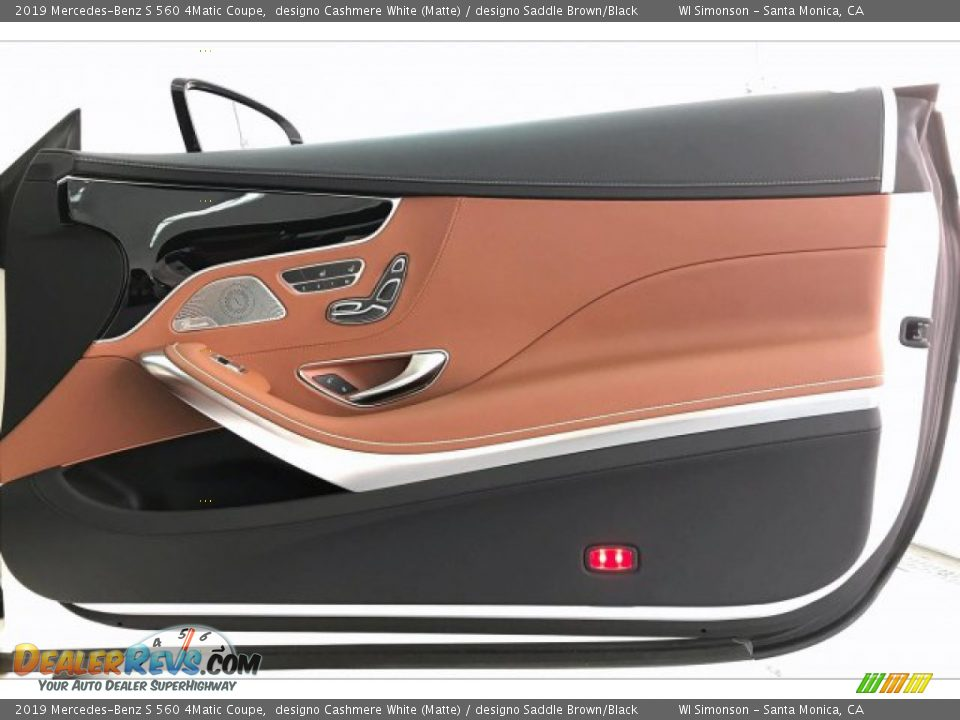 2019 Mercedes-Benz S 560 4Matic Coupe designo Cashmere White (Matte) / designo Saddle Brown/Black Photo #30