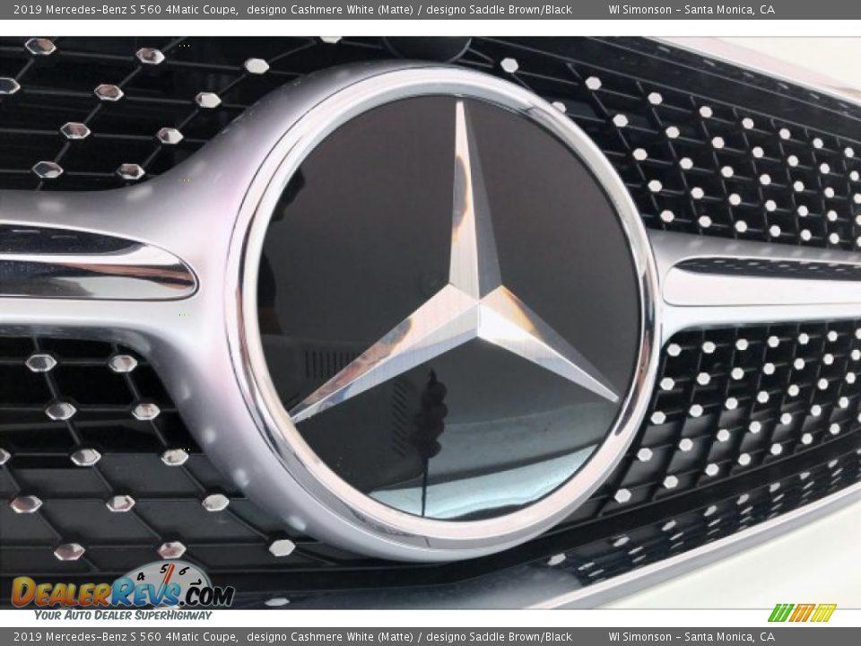 2019 Mercedes-Benz S 560 4Matic Coupe designo Cashmere White (Matte) / designo Saddle Brown/Black Photo #33